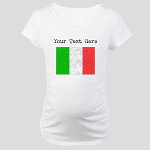 Italy Flag Maternity T-Shirt