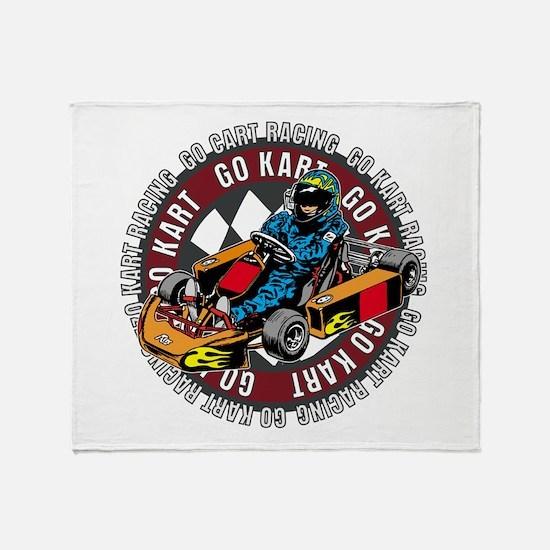 Go Kart Racing Throw Blanket