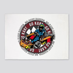 Go Kart Racing 5'x7'Area Rug