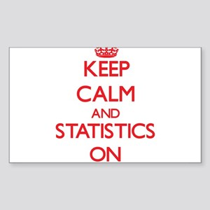 Keep Calm and Statistics ON Sticker
