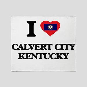 I love Calvert City Kentucky Throw Blanket