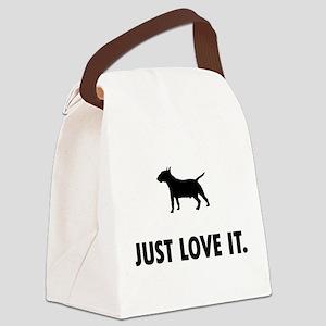 Miniature Bull Terrier Canvas Lunch Bag