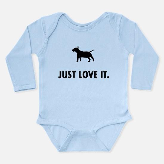 Miniature Bull Terrier Long Sleeve Infant Bodysuit