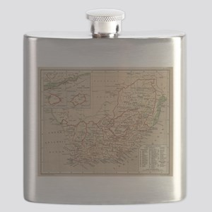 Vintage Map of South Africa (1880) Flask