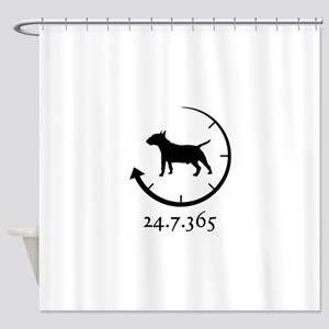 Miniature Bull Terrier Shower Curtain