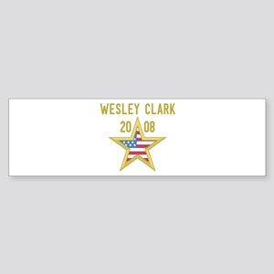 WESLEY CLARK 08 (gold star) Bumper Sticker