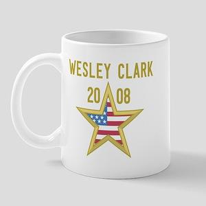 WESLEY CLARK 08 (gold star) Mug