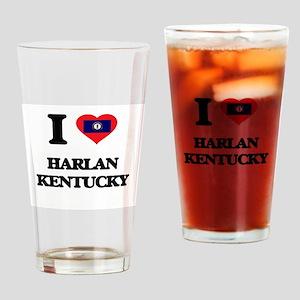 I love Harlan Kentucky Drinking Glass