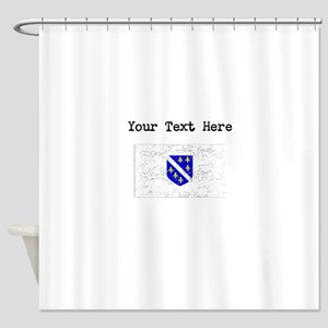Bosnia Herzegovina Flag Shower Curtain
