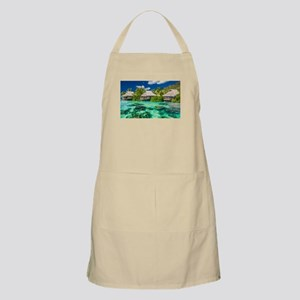Tropical Water And Bungalow Apron