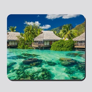 Tropical Water And Bungalow Mousepad