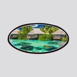 Tropical Water And Bungalow Patch
