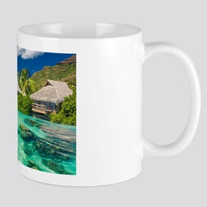 Tropical Water And Bungalow Mugs