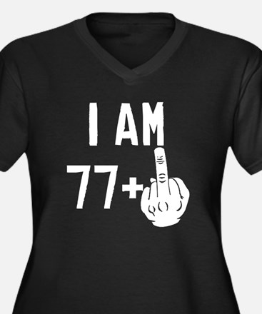 Middle Finger 78th Birthday Plus Size T-Shirt