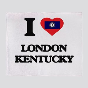 I love London Kentucky Throw Blanket