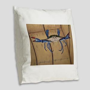 Never Give Up! Burlap Throw Pillow