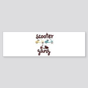Scooter Gang Bumper Sticker