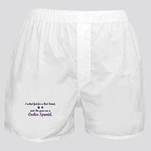 God Gave Me A Cocker Spaniel Boxer Shorts