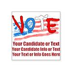 Personalize Your Vote! Sticker