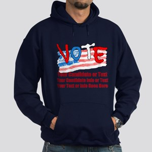 Personalize Your Vote! Hoodie (dark)