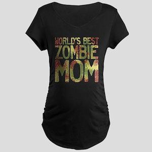 Worlds Best Zombie Mom Maternity Dark T-Shirt