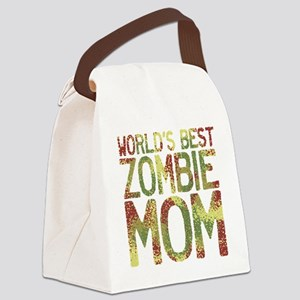 Worlds Best Zombie Mom Canvas Lunch Bag