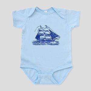 Clipper Ship - Navy Blue Body Suit