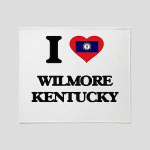 I love Wilmore Kentucky Throw Blanket
