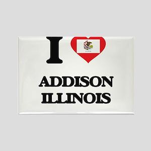 I love Addison Illinois Magnets