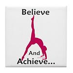 Gymnastics Tile Coaster - Believe