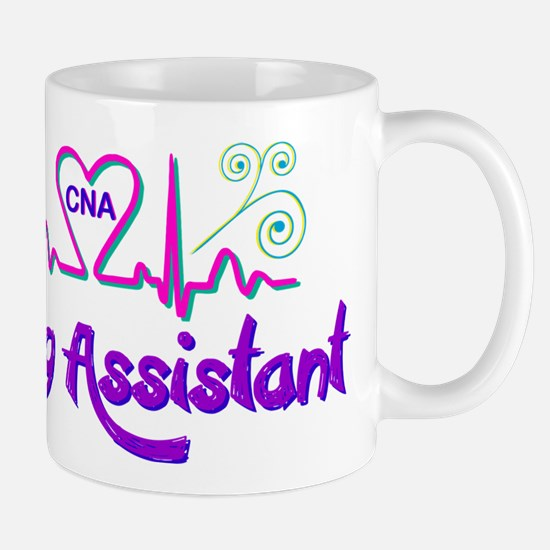 Nursing Assistant CNA Heart Beat Mugs