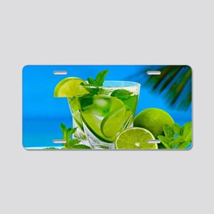 Fresh Water With Lemons And Mint Aluminum License
