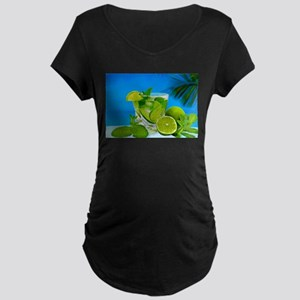 Fresh Water With Lemons And Mint Maternity T-Shirt
