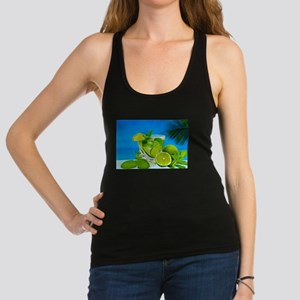 Fresh Water With Lemons And Mint Racerback Tank To