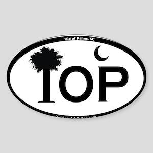 IOP Black and White Flag Design Sticker