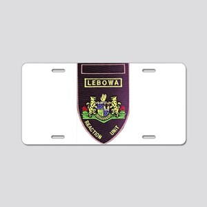 Lebowa Reaction Unit Aluminum License Plate
