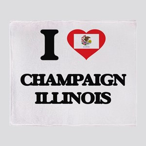 I love Champaign Illinois Throw Blanket