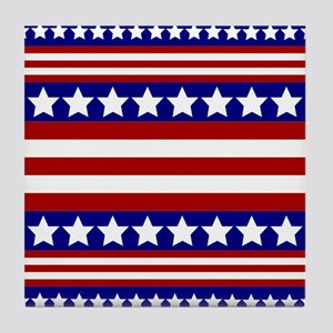 Stars and Stripes Tile Coaster