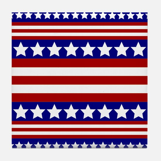 Stars and Stripes Tile Coaster