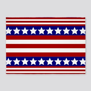 Stars and Stripes 5'x7'Area Rug