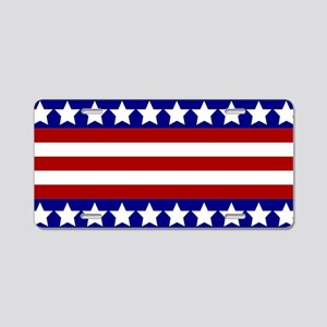 Stars and Stripes Aluminum License Plate