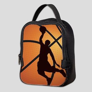 Basketball dunk Neoprene Lunch Bag