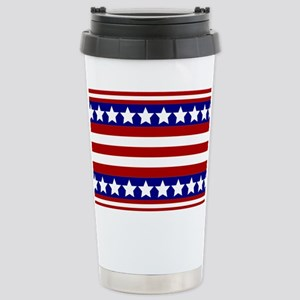 Stars and Stripes Stainless Steel Travel Mug