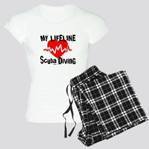 My Life Line Scuba Diving Women's Light Pajamas