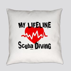 My Life Line Scuba Diving Everyday Pillow