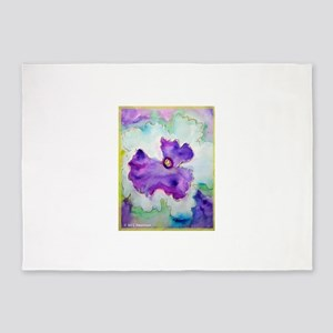 Pansy! Flower art! 5'x7'Area Rug