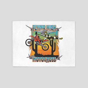 Flying High Motocross 5'x7'Area Rug