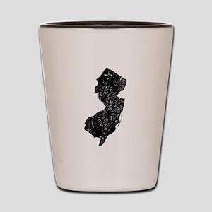 New Jersey Silhouette Shot Glass