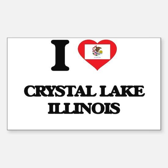 I love Crystal Lake Illinois Decal