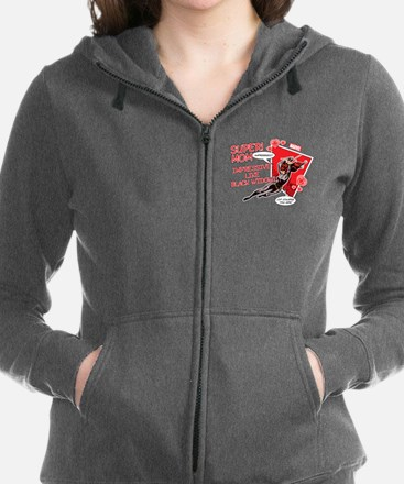 Black Widow Super Mom Women's Zip Hoodie